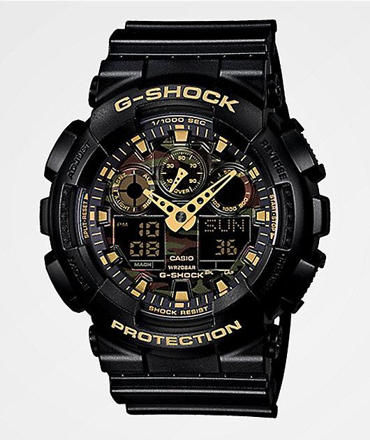 G-Shock GA100 Woodland Camo Chronograph Watch