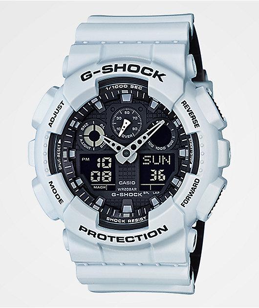 G-Shock GA100L-7A Military reloj Layered en blanco