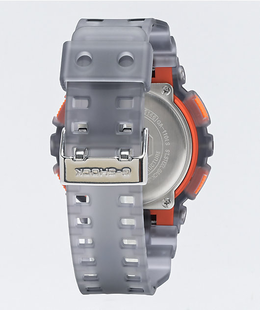 G-Shock GA110 Clear & Orange Watch