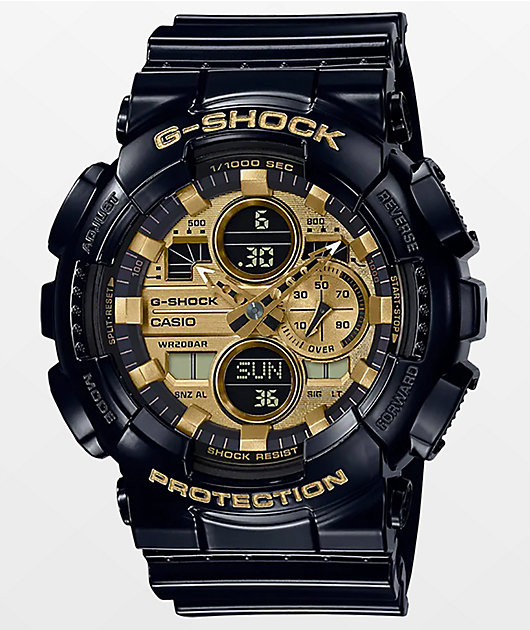 G-Shock GA140-GB-1A1 Black & Gold Watch
