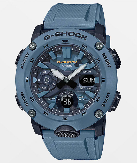 G-Shock GA2000S-2A Blue Analog and Digital Watch