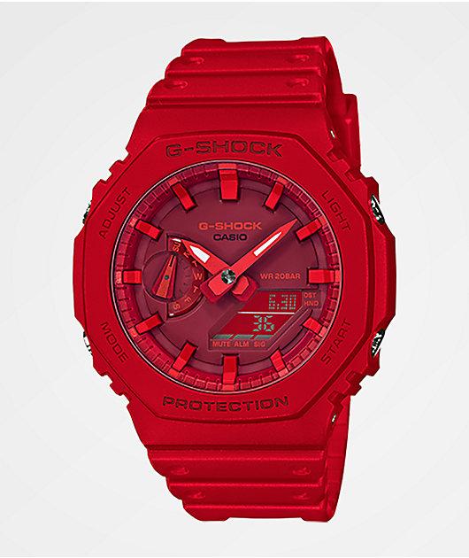 G-Shock GA2100-4A All Red Watch