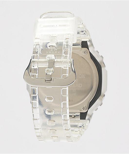 G-Shock GA2100 Clear & White Analog Watch