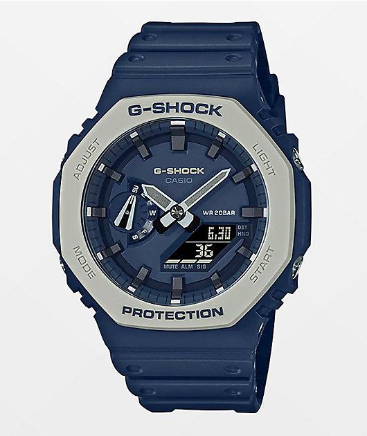 G-Shock GA2110 Earth Toned Blue Analog Watch
