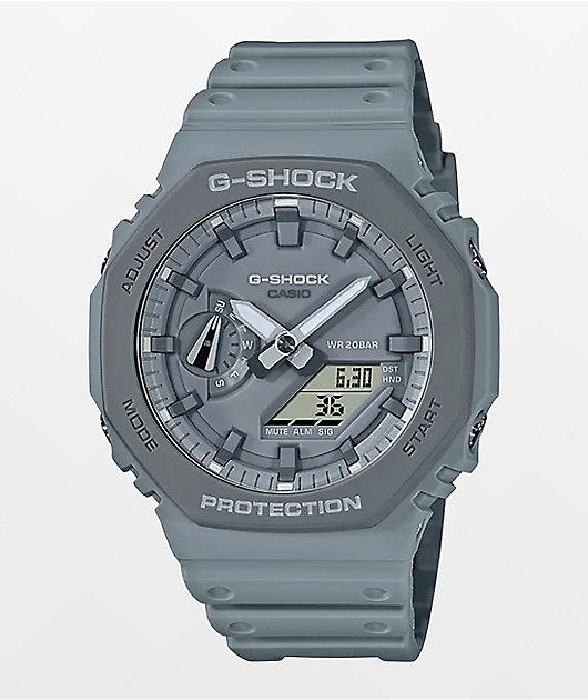 G-Shock GA2110 Earth-Toned Grey Analog Watch