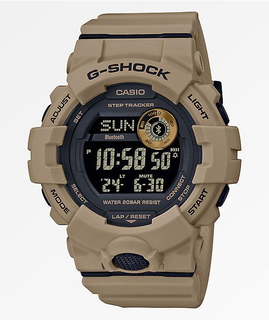 G-Shock GBD800 Dark Khaki & Black Digital Watch