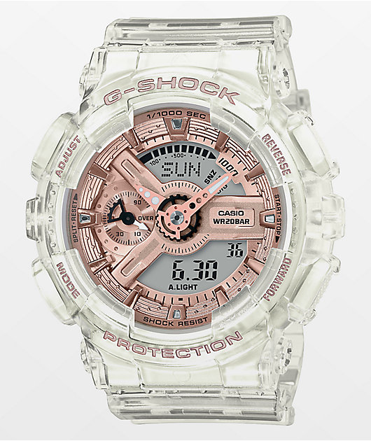 G-Shock GMAS110SR Transparent Rose Gold Watch