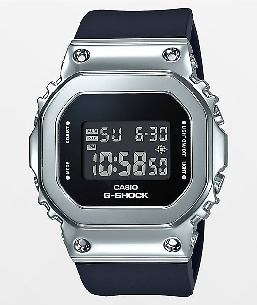 G-Shock GMS5600-1 Silver & Navy Digital Watch
