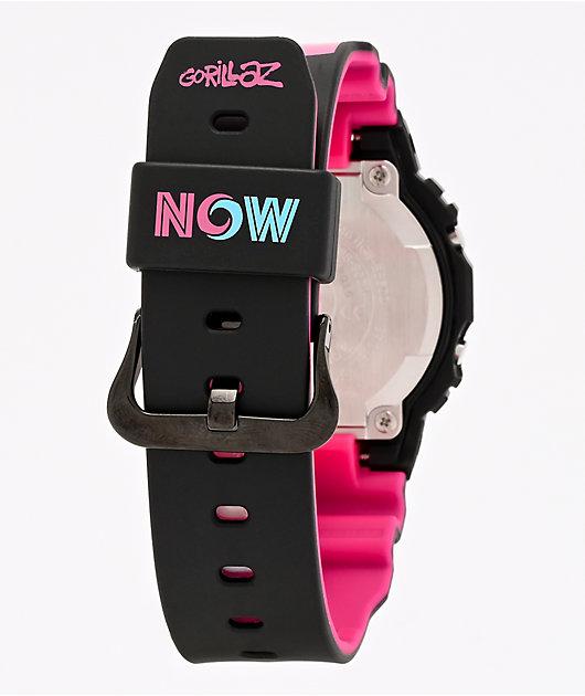 G-Shock x Gorillaz GWB5600 reloj digital negro y rosa