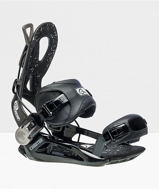GNU Cheeter Black Snowboard Bindings 2020