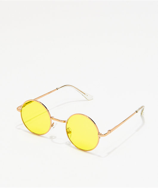 Gafas de sol redondas amarillas pequeñas