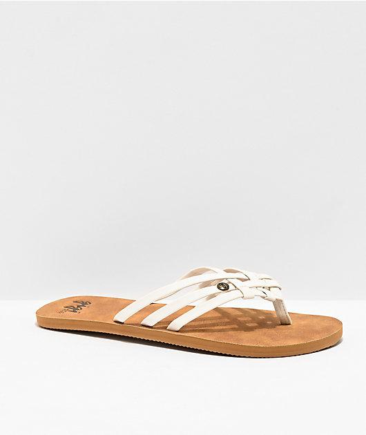Gigi Sundays Brown & White Sandals