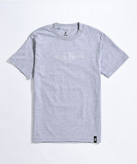 Girl GSLA Embroidered Heather Grey T-Shirt