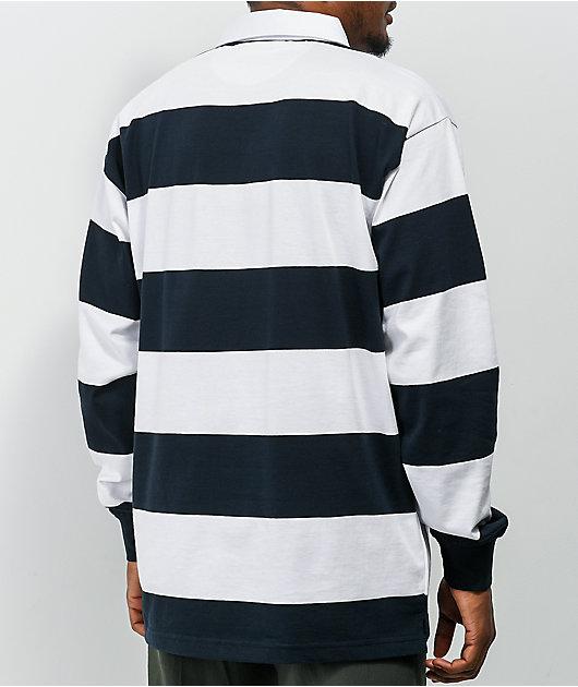 Girl Icey OG White & Navy Rugby Shirt