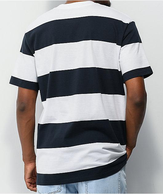 Girl Icey OG White & Navy Stripe T-Shirt