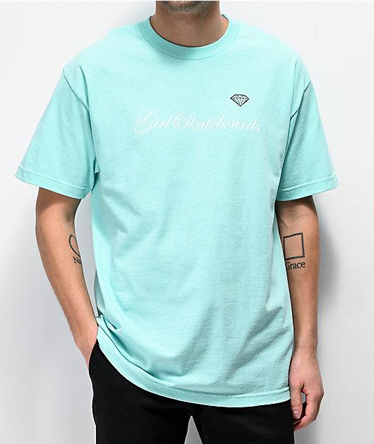 Girl x Diamond Supply Co. Script Celadon T-Shirt