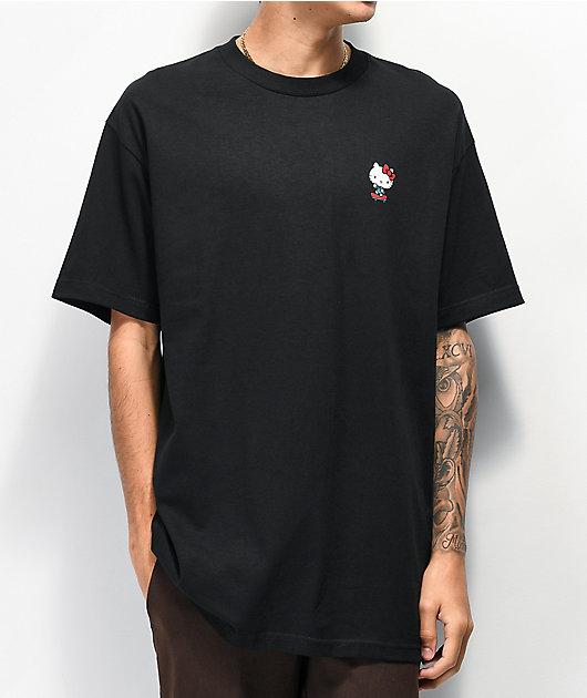 Girl x Hello Kitty 45th Anniversary Push camiseta negra