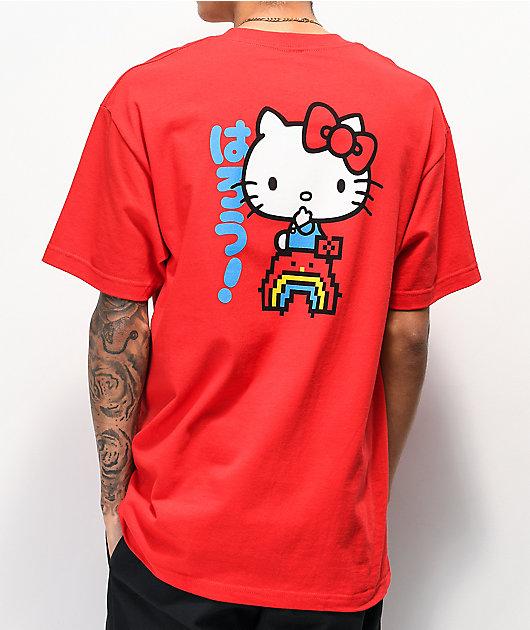 Girl x Hello Kitty 45th Anniversary Rainbow Red T-Shirt