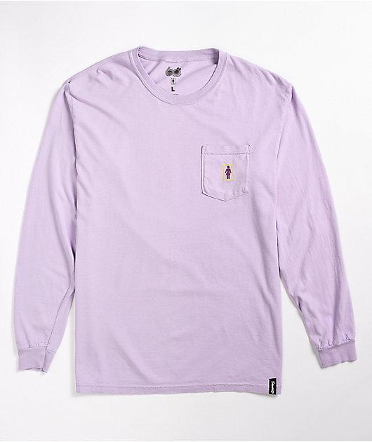 Girl x Sanrio Restaurant Lavender Long Sleeve T-Shirt