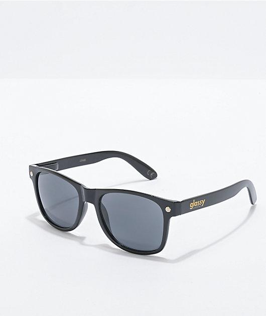 Glassy Leonard Black Wayfarer Sunglasses