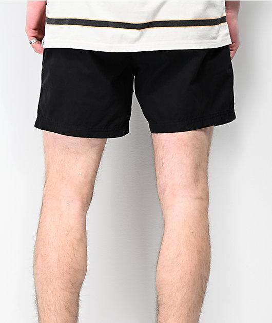 Globe Los Santos Black Elastic Waist Shorts