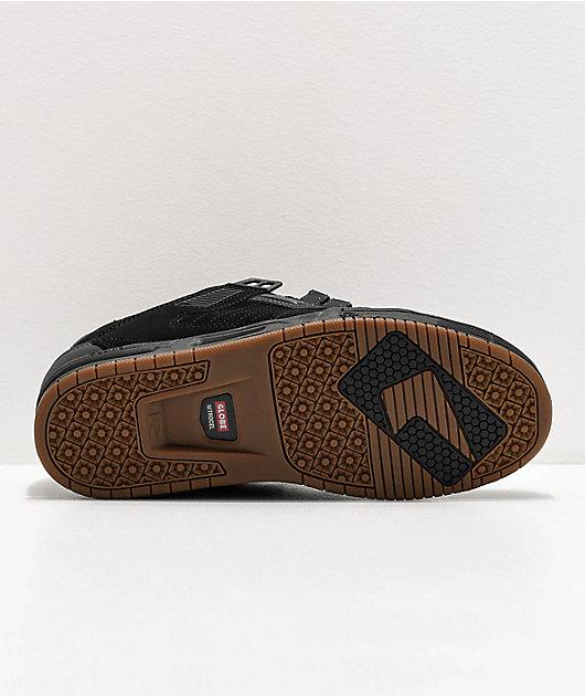 Globe Sabre zapatos de skate en negro, gris y goma