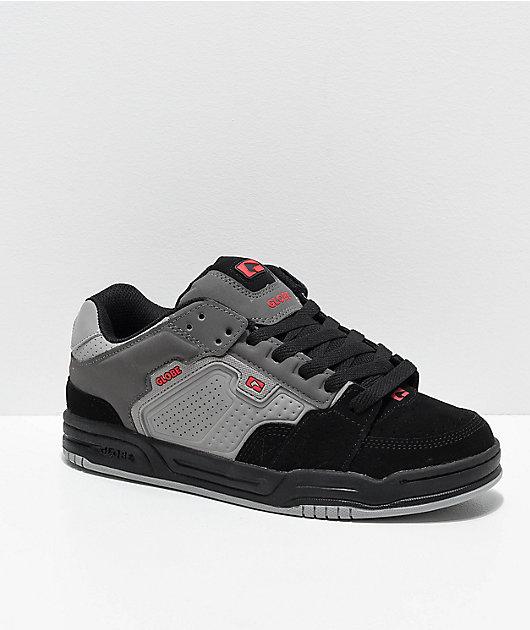 Globe Scribe zapatos de skate en gris, negro y rojo