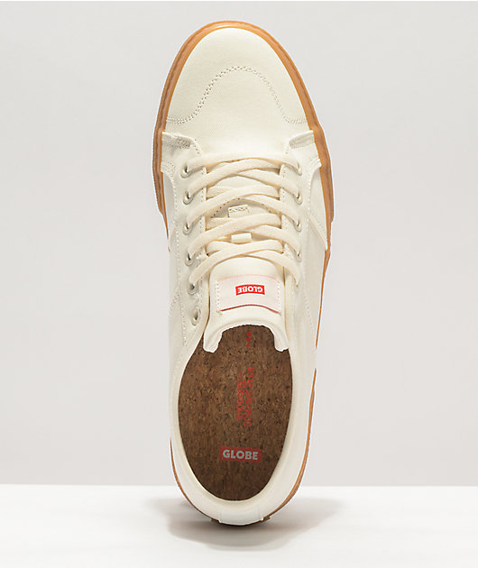 Globe Surplus Organic White & Gum Skate Shoes