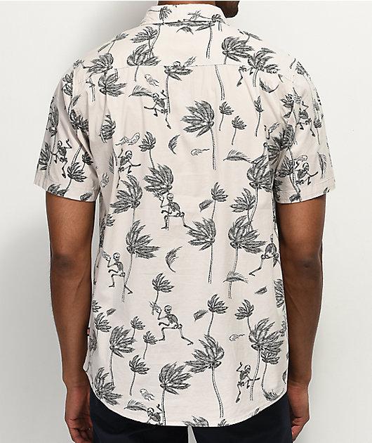 Globe Typhoon camisa blanca tejida de manga corta
