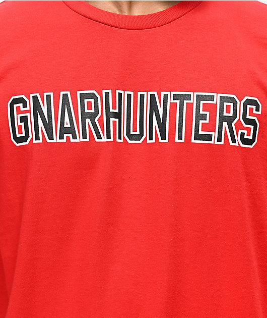 Gnarhunters Outline Logo Red T-Shirt