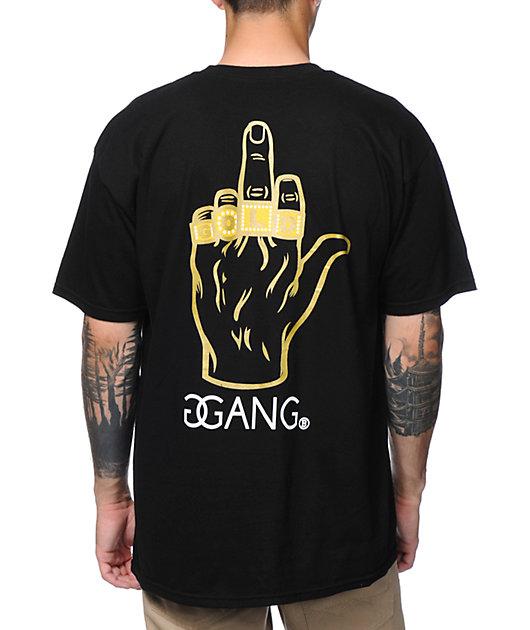 Gold Gang x Breezy Excursion Gold Chain Gang Black T-Shirt