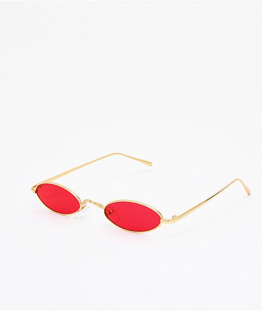 Golden Road Red & Gold Mini Sunglasses