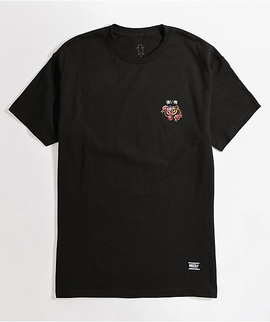 Grizzly Flash Art Black T-Shirt