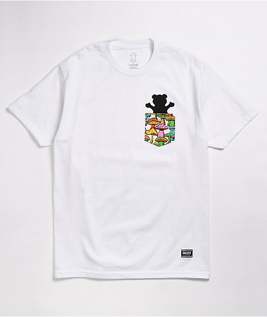 Grizzly Fungi Pocket White T-Shirt