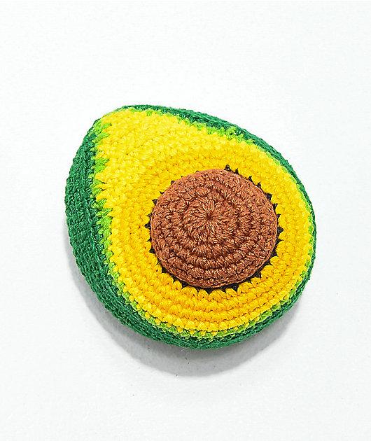 Guatemalart hacky sack de crochet de aguacate