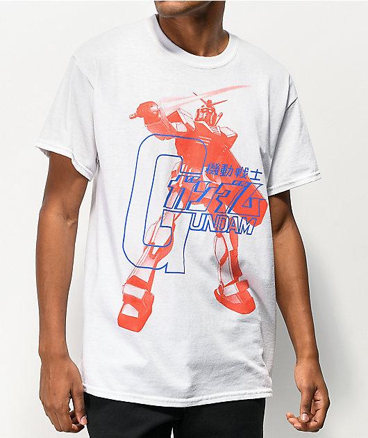 Gundam Kanji Script White T-Shirt
