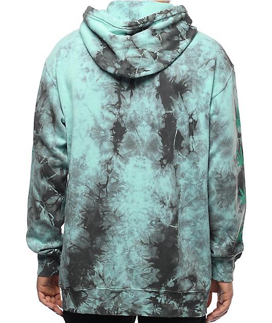 HUF 420 Plantlife Mint Tie Dye Hoodie