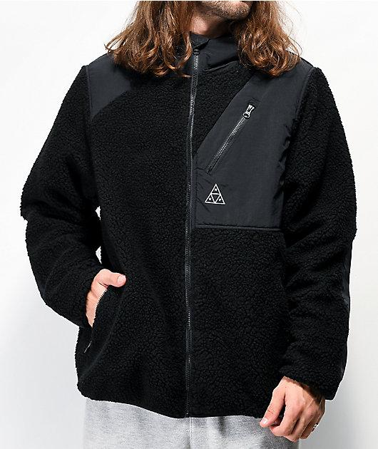 HUF Aurora chaqueta negra de polar técnico