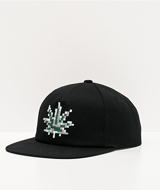 HUF Censored Black Snapback Hat