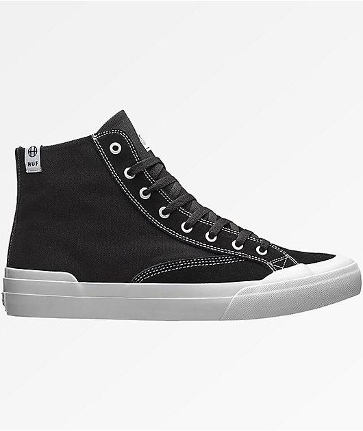 HUF Classic Hi Ess Black \u0026 White Shoes