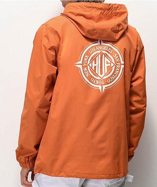 HUF Coordinates chaqueta anorak naranja