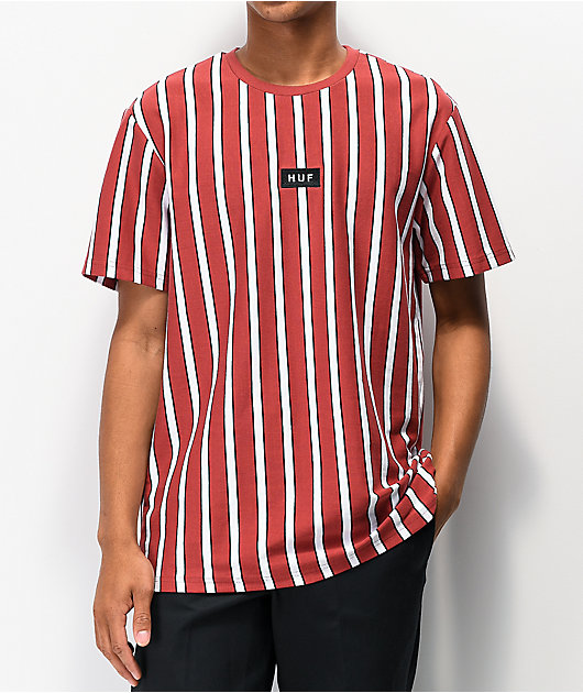 HUF Dexter Stripe Red & White Knit T-Shirt