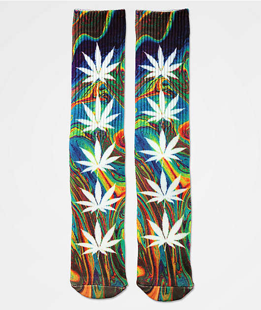 HUF Digital Plantlife Green Crew Socks