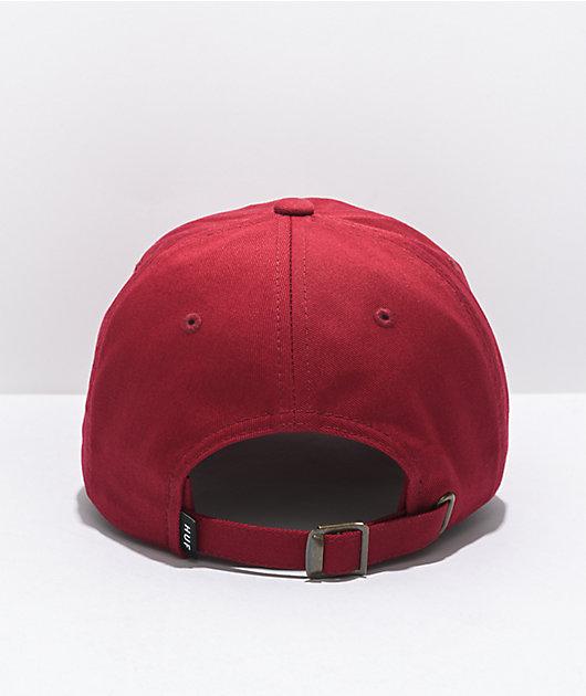 HUF Essentials Logo Bloodstone Strapback Hat
