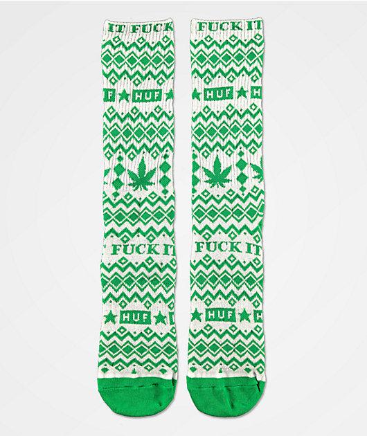 HUF Fair Isle calcetines verdes y grises
