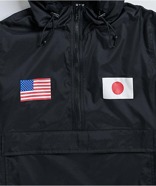 HUF Flags Black Anorak Jacket