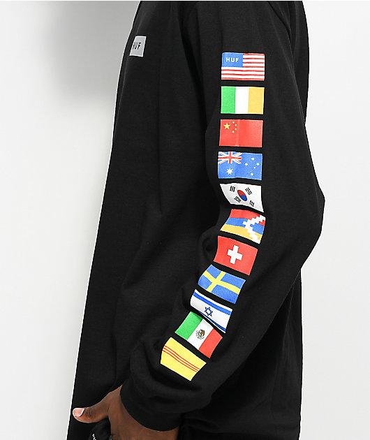 HUF Flags Black Long Sleeve T-Shirt