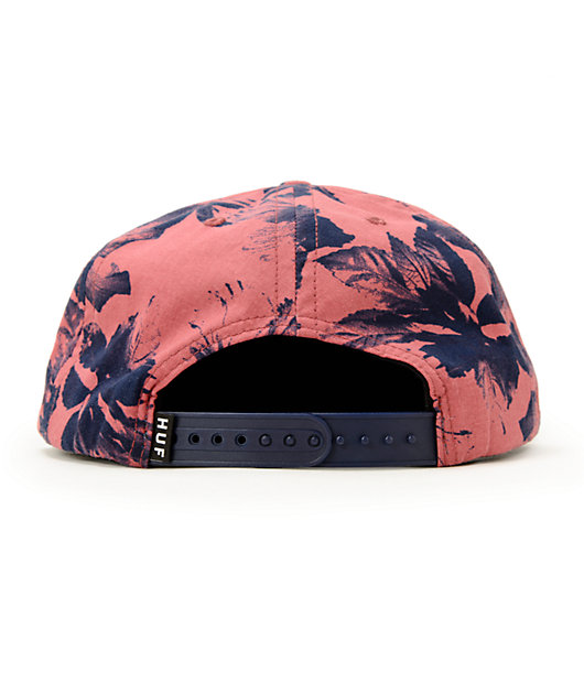 HUF Floral Box Logo Snapback Hat