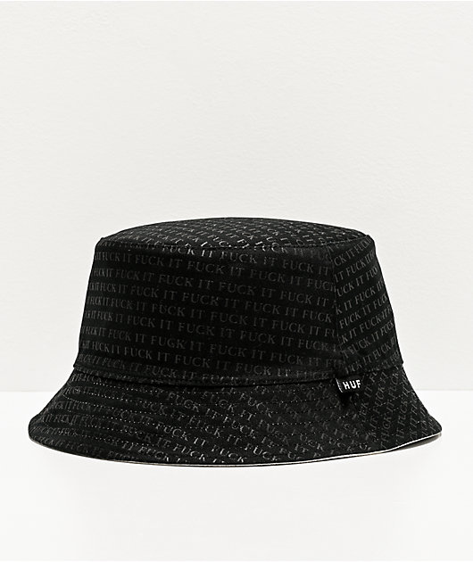 HUF Fuck It Reversible Black & White Bucket Hat
