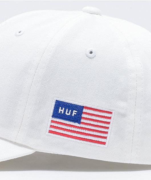 HUF Fuck It White Strapback Hat